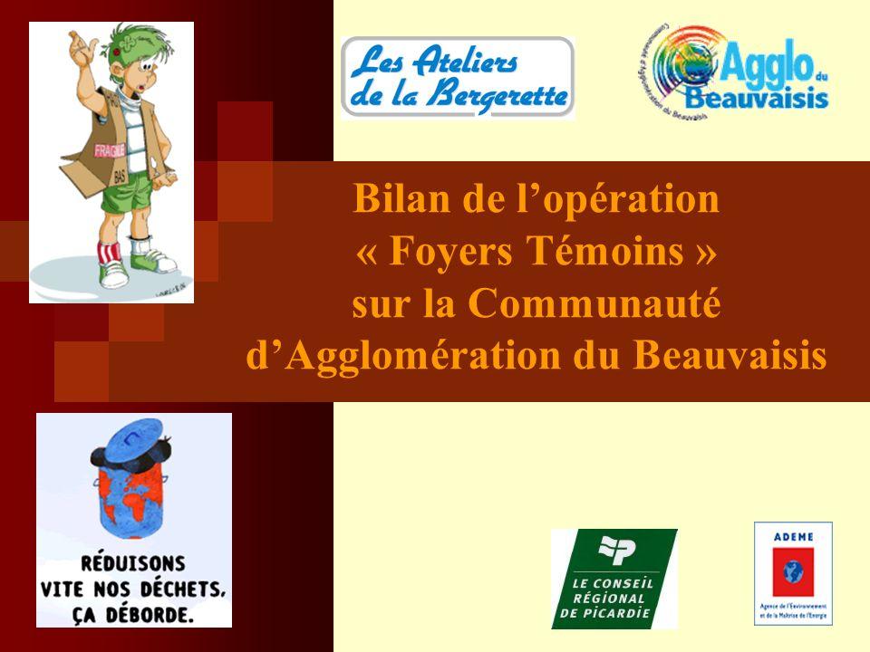 Bilan de lopération « Foyers Témoins » sur la Communauté dAgglomération du Beauvaisis