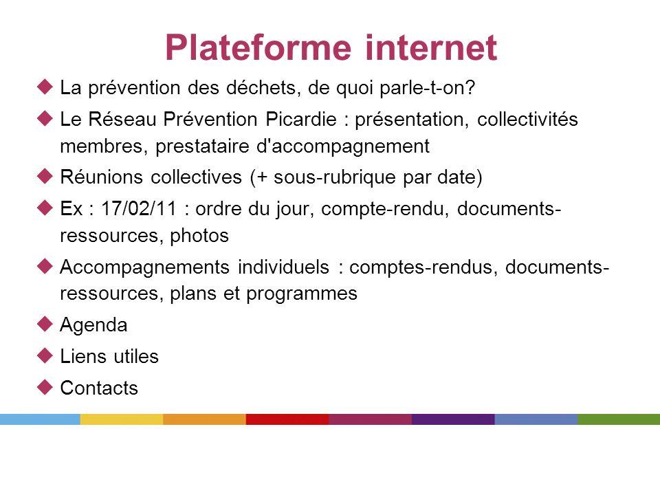 Plateforme internet La prévention des déchets, de quoi parle-t-on? Le Réseau Prévention Picardie : présentation, collectivités membres, prestataire d'