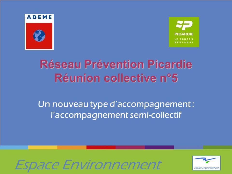 Espace Environnement Réseau Prévention Picardie Réunion collective n°5 Réseau Prévention Picardie Réunion collective n°5 Un nouveau type daccompagnement : laccompagnement semi-collectif