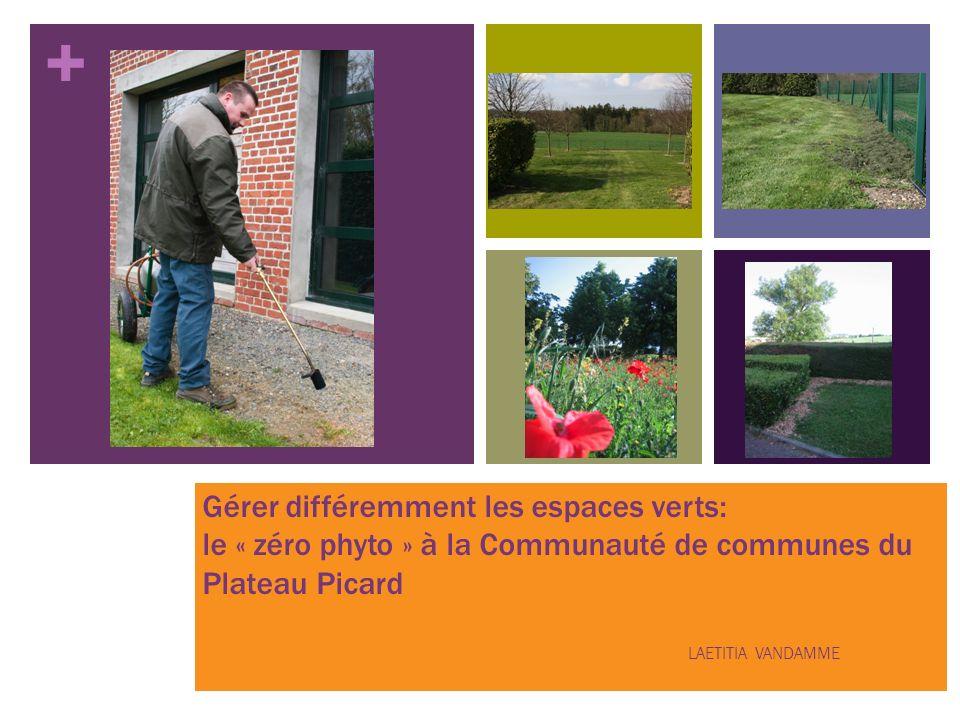 + Gérer différemment les espaces verts: le « zéro phyto » à la Communauté de communes du Plateau Picard LAETITIA VANDAMME