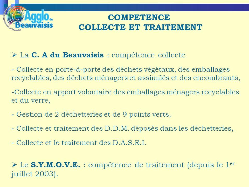 COMPETENCE COLLECTE ET TRAITEMENT La C.