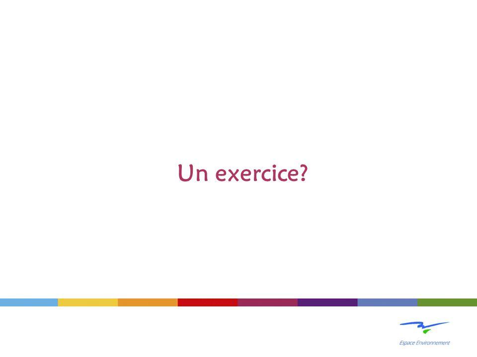 Un exercice?