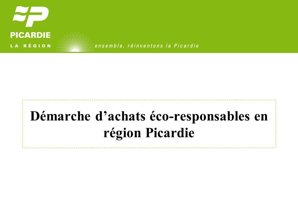 Démarche dachats éco-responsables en région Picardie