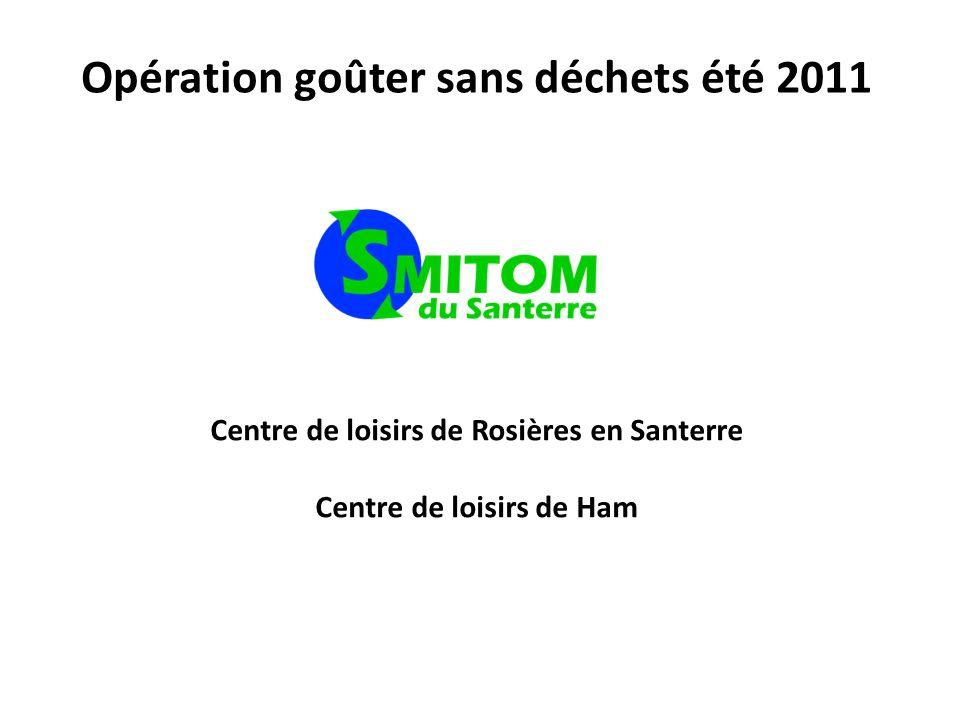 Opération goûter sans déchets été 2011 Centre de loisirs de Rosières en Santerre Centre de loisirs de Ham