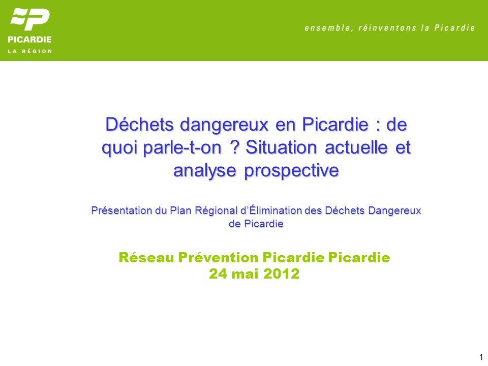 22 ANNEXES : Etat des lieux de la production des déchets dangereux en Picardie