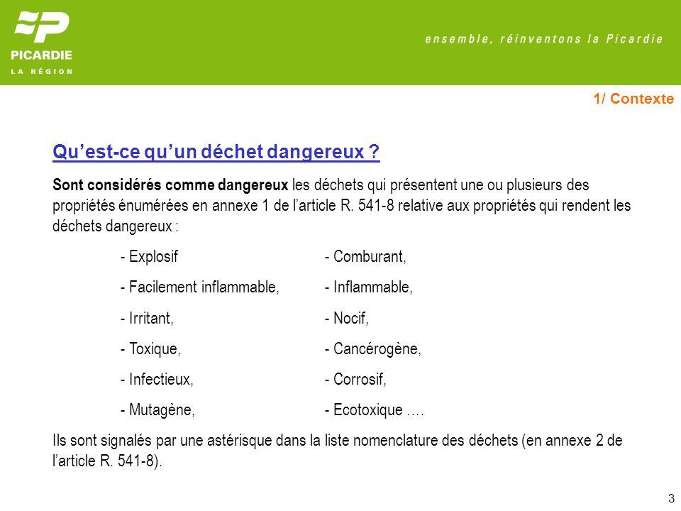 24 4/ Gestion des déchets dangereux Natures de déchets dangereux produites en Picardie en 2006 (traitées en France)