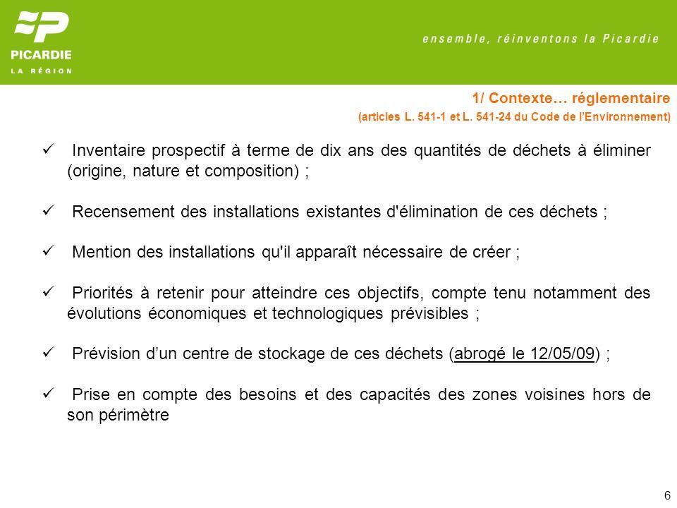 27 4/ Gestion des déchets dangereux Installations de traitement et de valorisation des DD Picardie en 2006