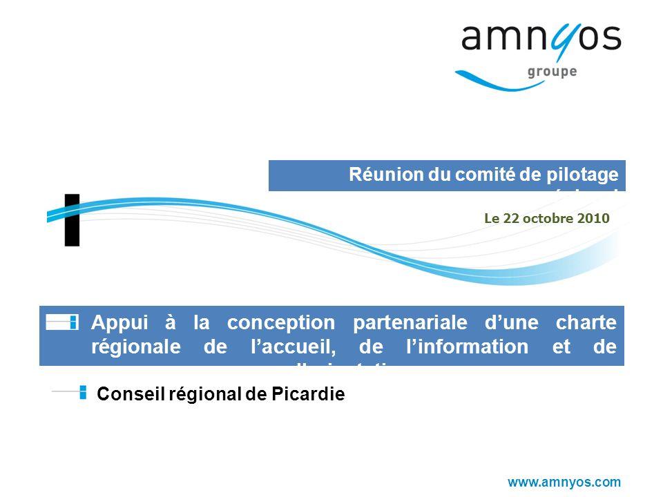 www.amnyos.com Appui à la conception partenariale dune charte régionale de laccueil, de linformation et de lorientation Conseil régional de Picardie R