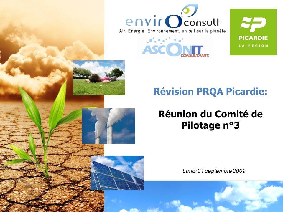 Révision PRQA Picardie: Réunion du Comité de Pilotage n°3 Lundi 21 septembre 2009
