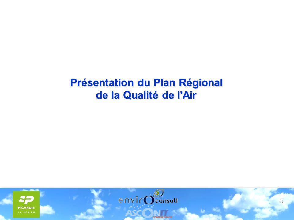 3 Présentation du Plan Régional de la Qualité de l Air