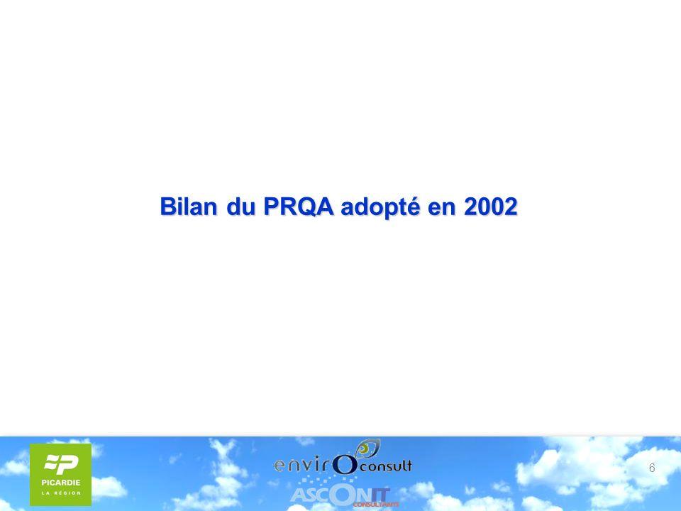 6 Bilan du PRQA adopté en 2002