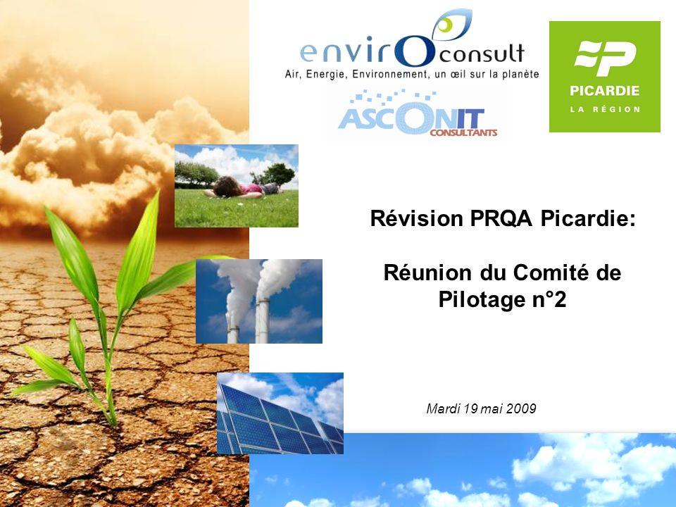 Révision PRQA Picardie: Réunion du Comité de Pilotage n°2 Mardi 19 mai 2009