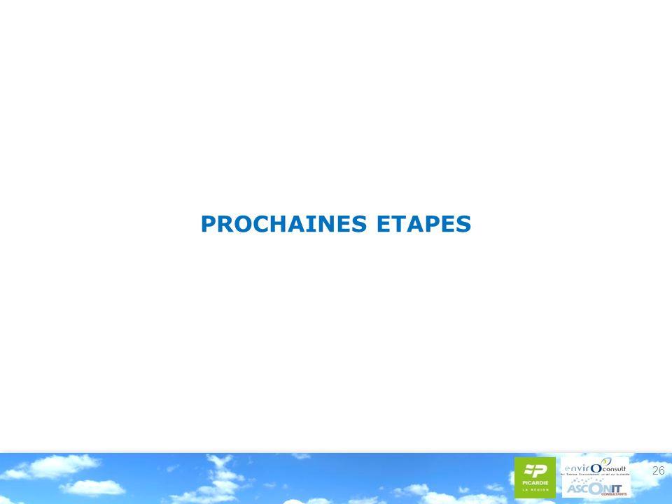 26 PROCHAINES ETAPES