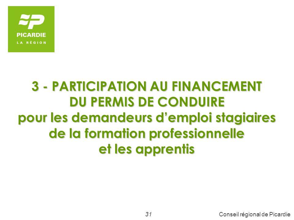 32Conseil régional de Picardie Aide au permis de conduire