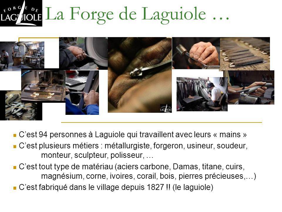 Cest 94 personnes à Laguiole qui travaillent avec leurs « mains » Cest plusieurs métiers : métallurgiste, forgeron, usineur, soudeur, monteur, sculpte