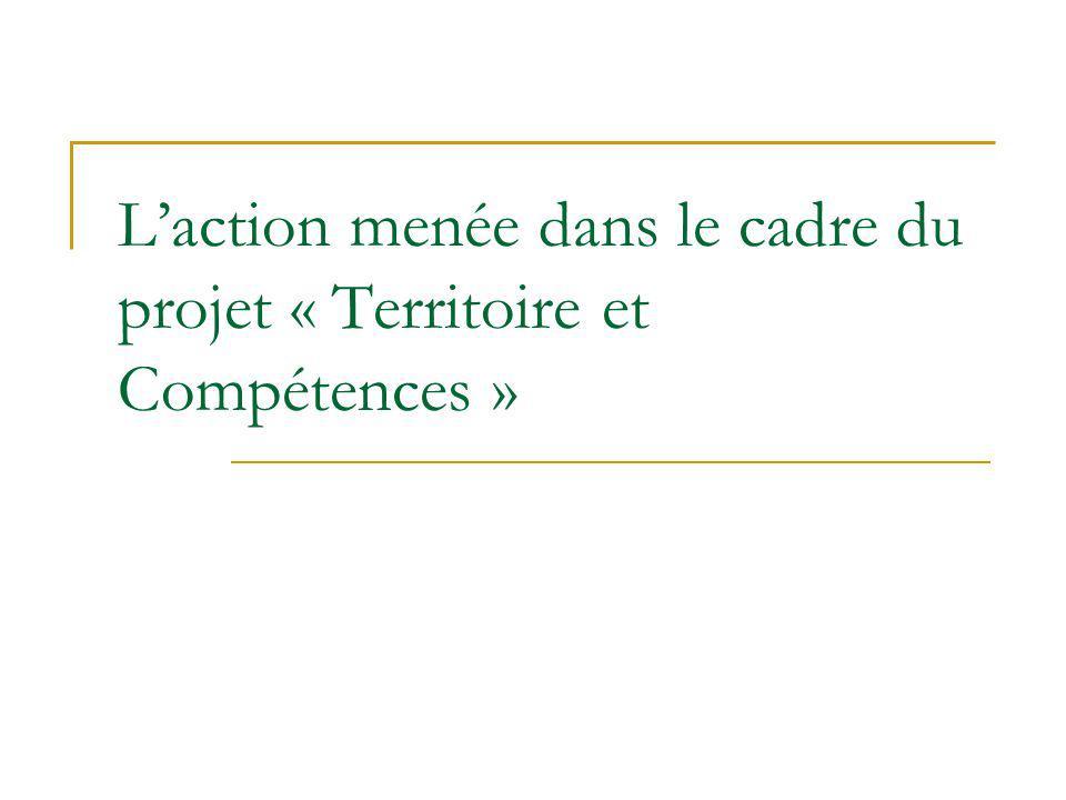 Laction menée dans le cadre du projet « Territoire et Compétences »