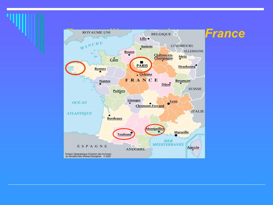 Zones dintervention en France