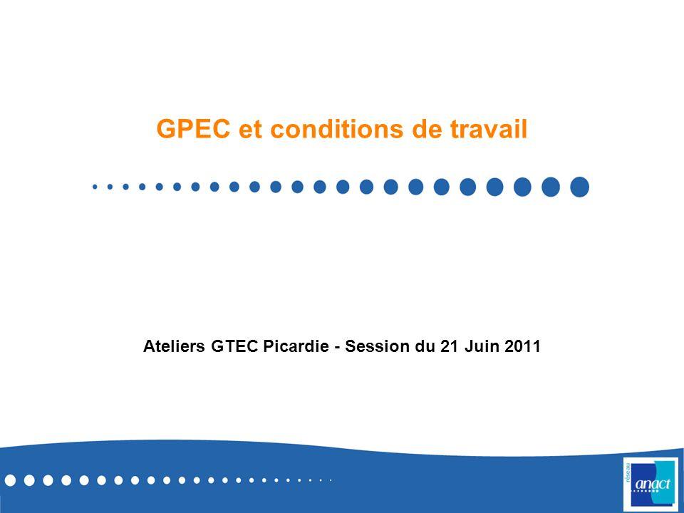GPEC et conditions de travail Ateliers GTEC Picardie - Session du 21 Juin 2011