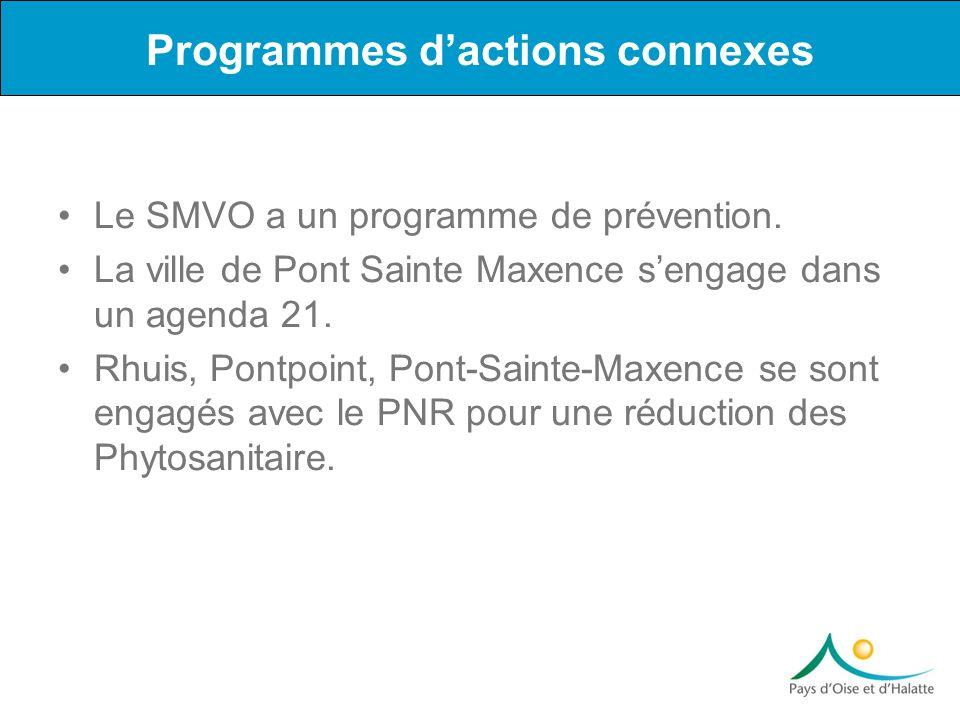Le SMVO a un programme de prévention. La ville de Pont Sainte Maxence sengage dans un agenda 21. Rhuis, Pontpoint, Pont-Sainte-Maxence se sont engagés