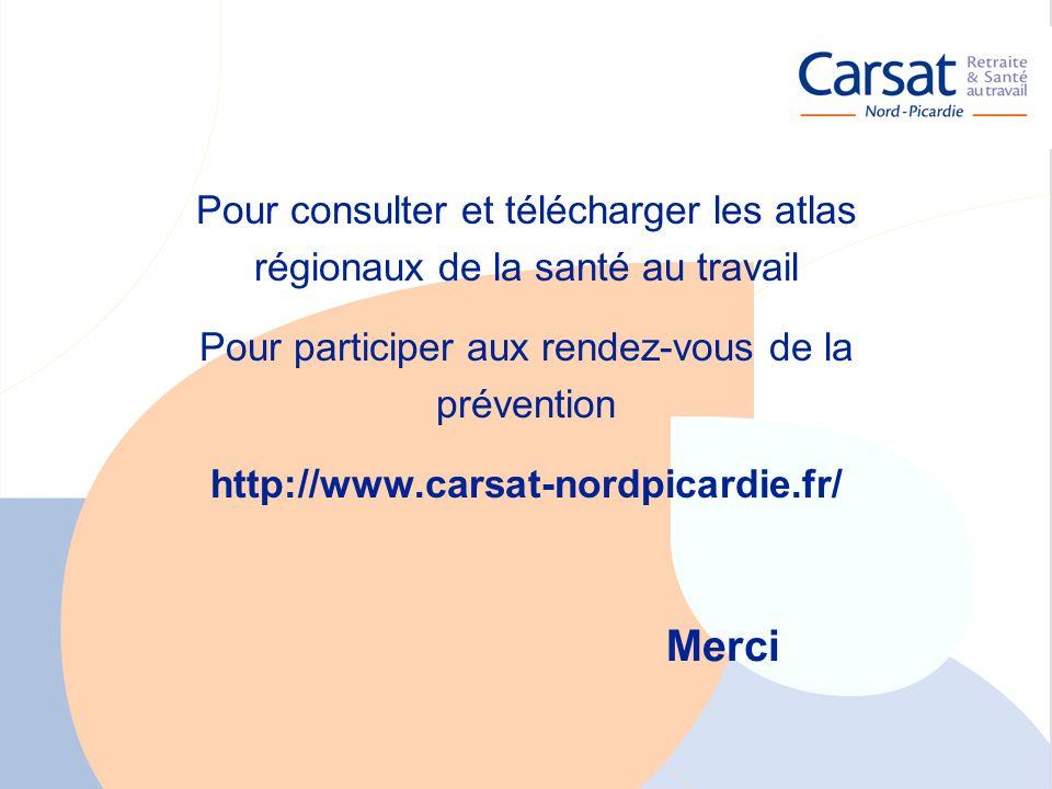 La santé au travail en Picardie - Carsat Nord-Picardie 27 Merci Pour consulter et télécharger les atlas régionaux de la santé au travail Pour particip