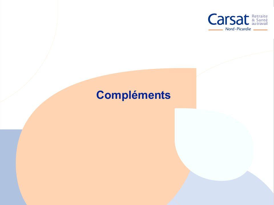La santé au travail en Picardie - Carsat Nord-Picardie 28 Compléments