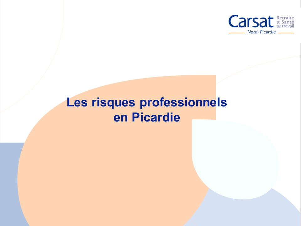 La santé au travail en Picardie - Carsat Nord-Picardie 8 Les risques professionnels en Picardie