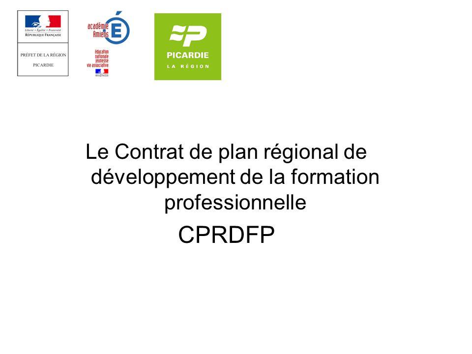 Le Contrat de plan régional de développement de la formation professionnelle CPRDFP
