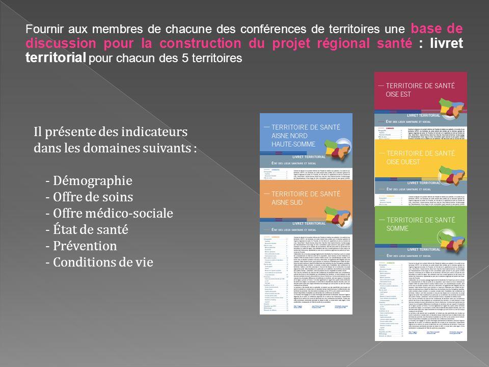 Fournir aux membres de chacune des conférences de territoires une base de discussion pour la construction du projet régional santé : livret territoria
