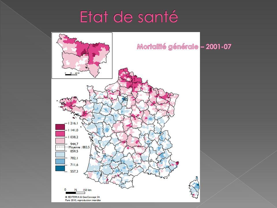 -16 % entre les 2 dates mais la Picardie reste en surmortalité
