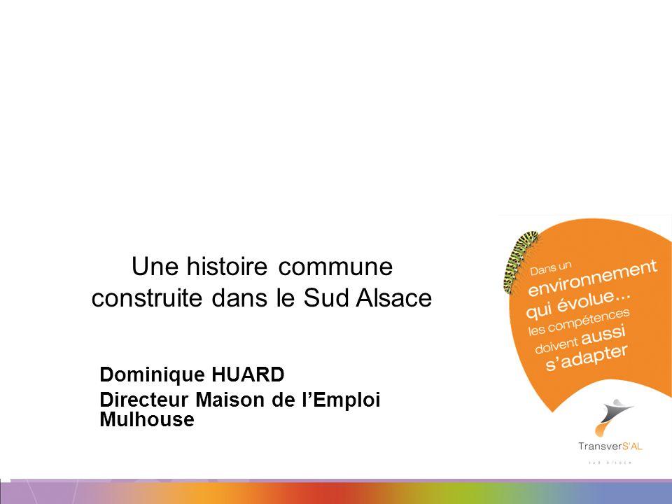 Une histoire commune construite dans le Sud Alsace Dominique HUARD Directeur Maison de lEmploi Mulhouse