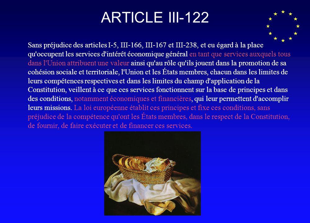 Larticle 16 du traité dAmsterdam « Sans préjudice des articles 73, 86 et 87, et eu égard à la place quoccupent les services dintérêt économique général parmi les valeurs communes de lUnion ainsi quau rôle quils jouent dans la promotion de la cohésion sociale et territoriale de lUnion, la Communauté et ses Etats membres, chacun dans la limite de leurs compétences respectives et dans les limites du champ dapplication du présent traité, veillent à ce que ces services fonctionnent sur la base de principes et dans des conditions qui leur permettent daccomplir leurs missions.