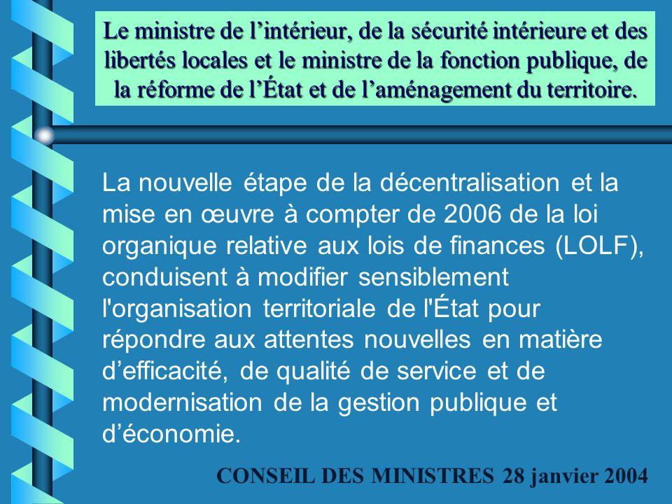 Le ministre de lintérieur, de la sécurité intérieure et des libertés locales et le ministre de la fonction publique, de la réforme de lÉtat et de lamé