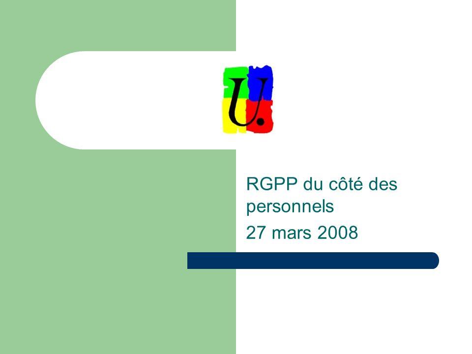 RGPP du côté des personnels 27 mars 2008