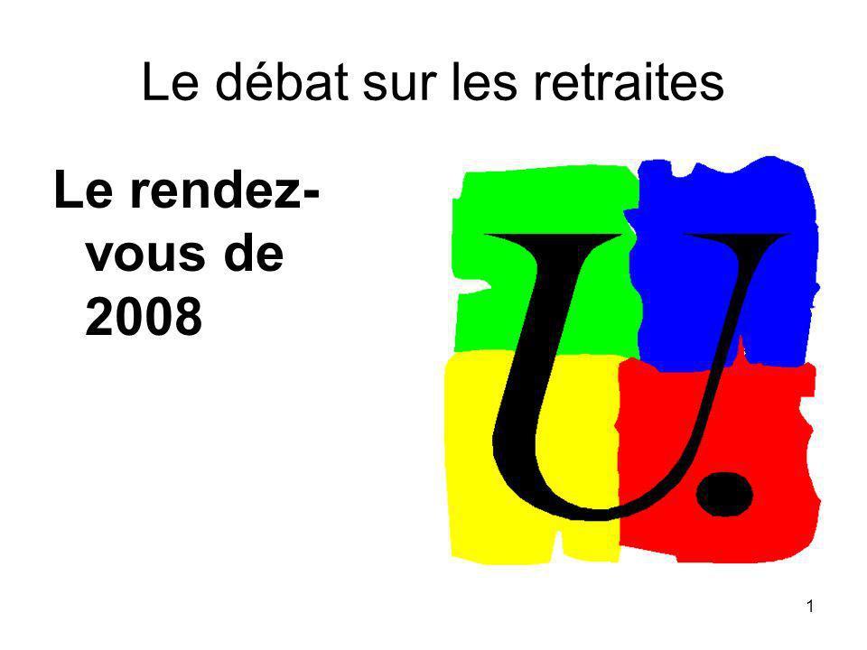 1 Le débat sur les retraites Le rendez- vous de 2008