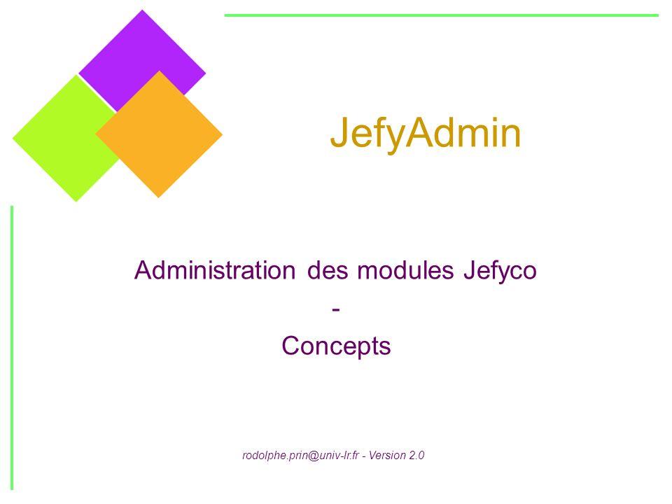 JefyAdmin Administration des modules Jefyco - Concepts rodolphe.prin@univ-lr.fr - Version 2.0