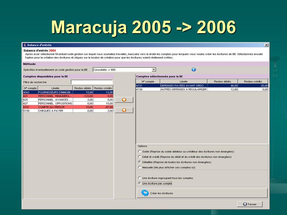 Maracuja 2005 -> 2006
