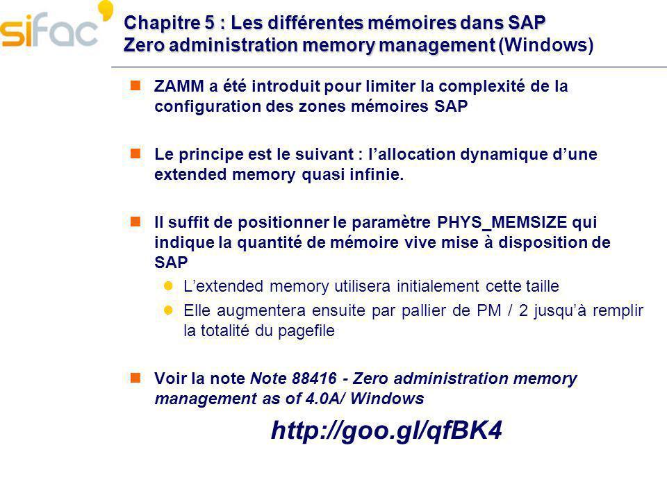 Chapitre 5 : Les différentes mémoires dans SAP Zero administration memory management Chapitre 5 : Les différentes mémoires dans SAP Zero administratio