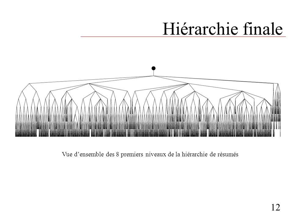 Hiérarchie finale 12 Vue densemble des 8 premiers niveaux de la hiérarchie de résumés