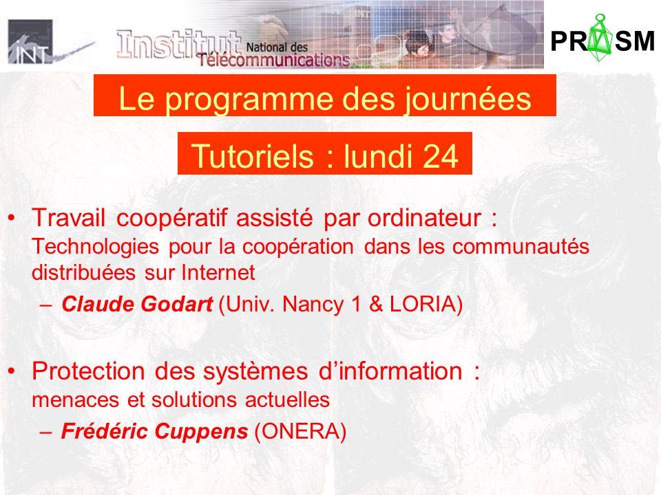 PR SM Travail coopératif assisté par ordinateur : Technologies pour la coopération dans les communautés distribuées sur Internet –Claude Godart (Univ.