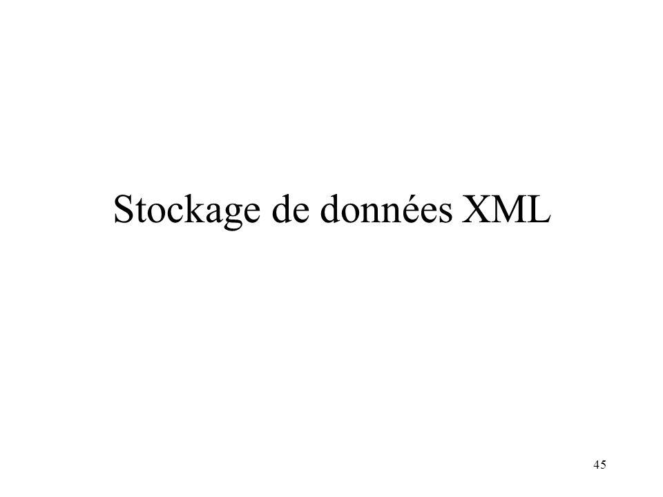 45 Stockage de données XML