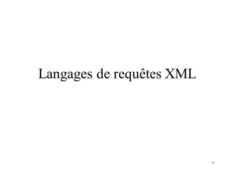 7 Langages de requêtes XML