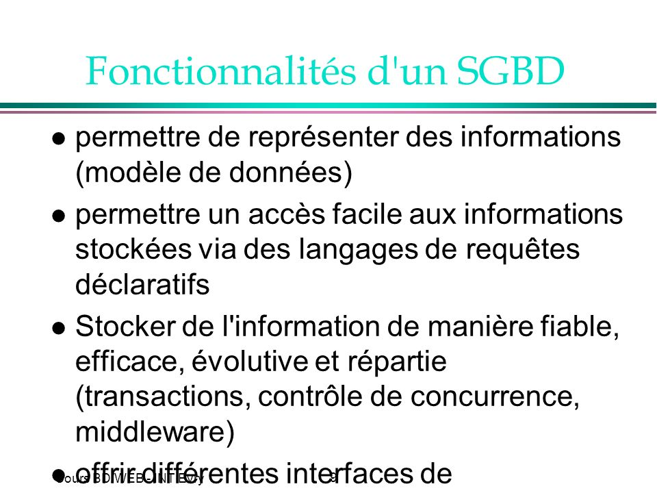 50 Cours BD/WEB - INT Evry
