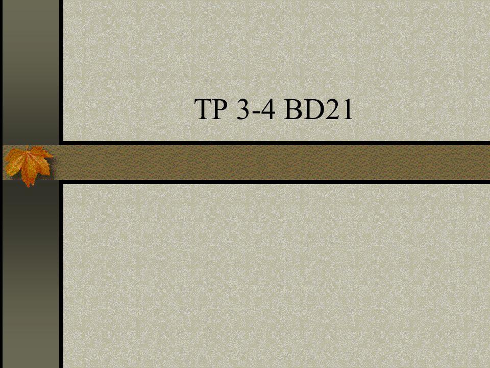 TP 3-4 BD21