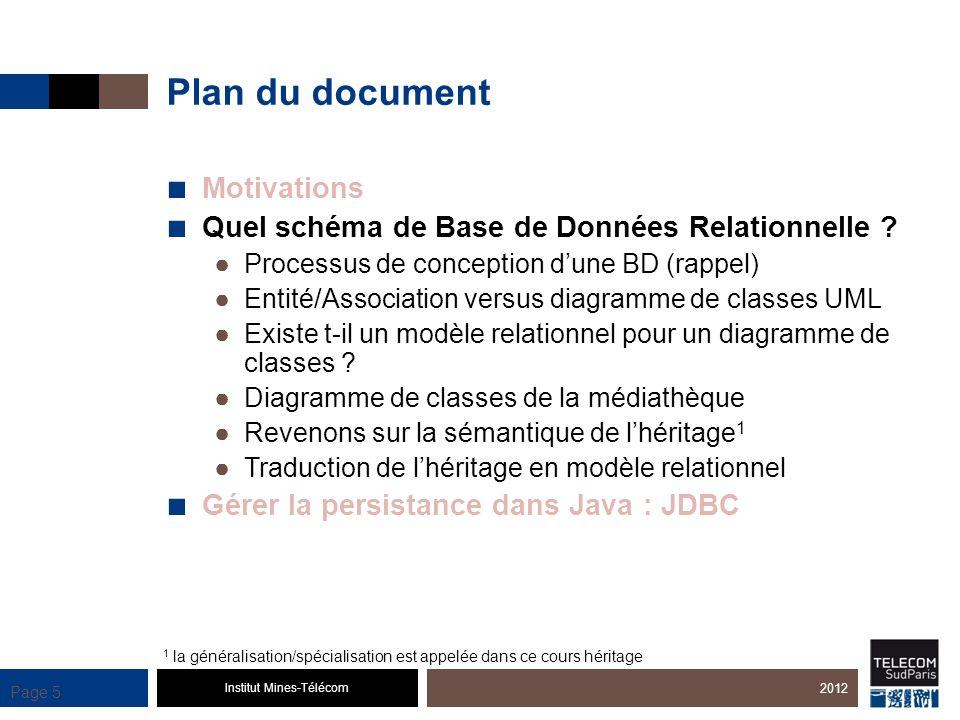 Institut Mines-Télécom Page 26 Que faire pour pouvoir utiliser JDBC .