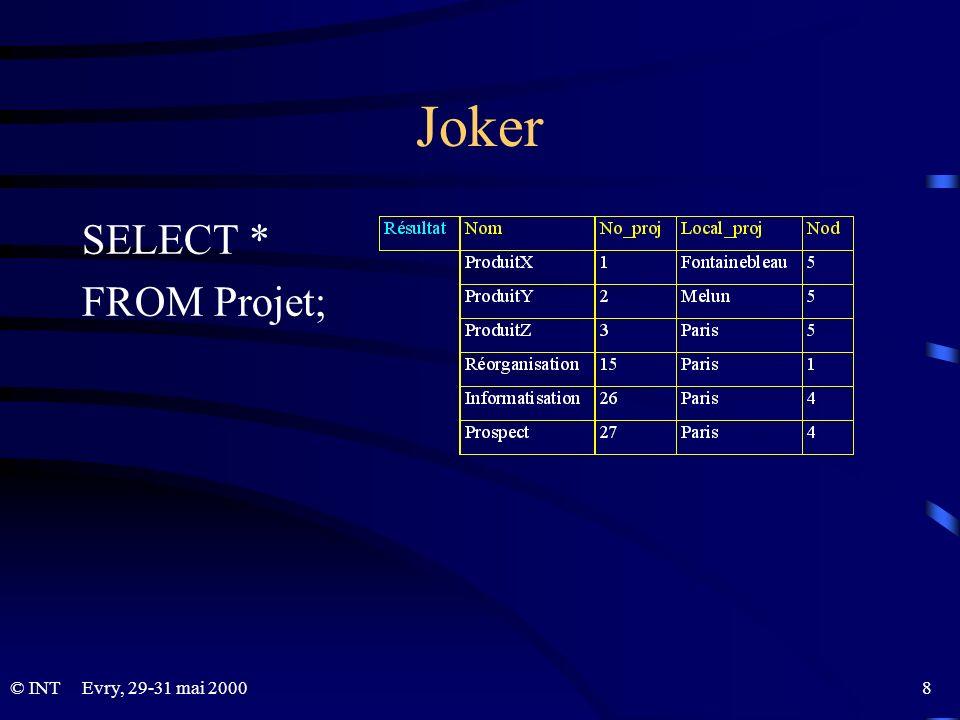 SQL : aspect programmation