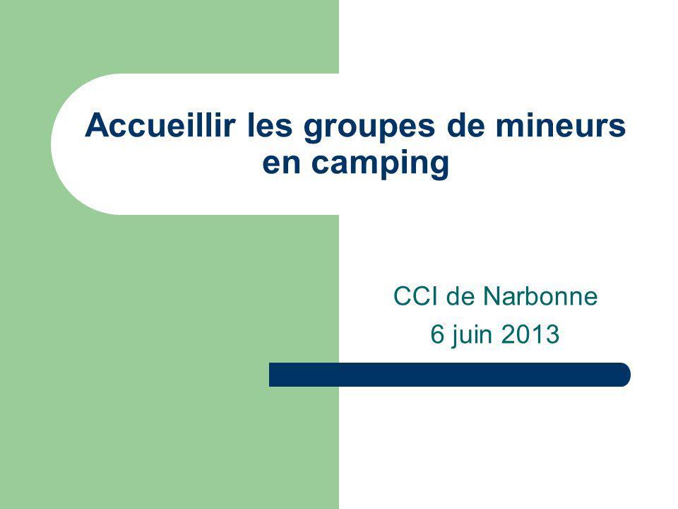 Accueillir les groupes de mineurs en camping CCI de Narbonne 6 juin 2013