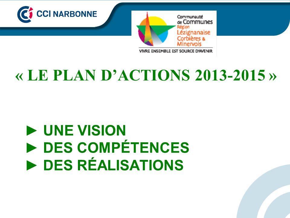 UNE VISION DES COMPÉTENCES DES RÉALISATIONS « LE PLAN DACTIONS 2013-2015 »