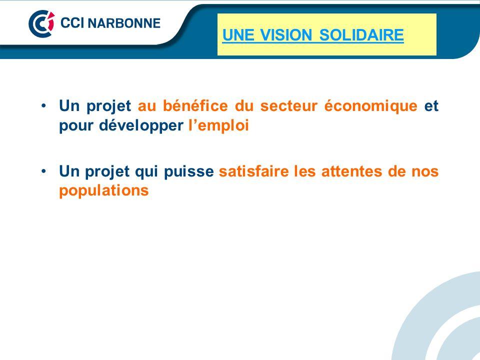 UNE VISION SOLIDAIRE Un projet au bénéfice du secteur économique et pour développer lemploi Un projet qui puisse satisfaire les attentes de nos popula