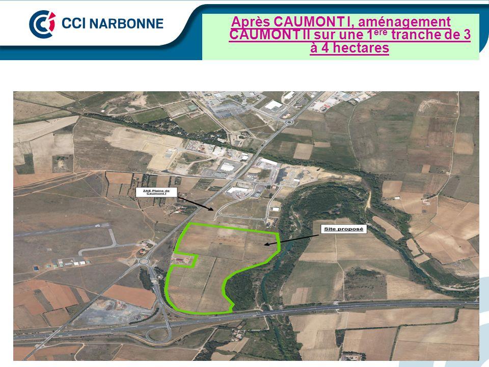 Après CAUMONT I, aménagement CAUMONT II sur une 1 ère tranche de 3 à 4 hectares