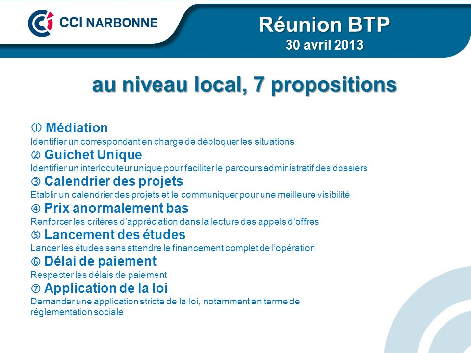 Merci de votre attention Réunion BTP 30 avril 2013